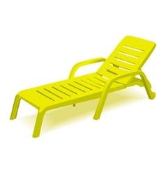 Beach chair with sun symbol on map pointer vector