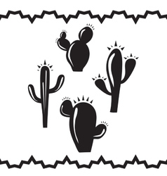 Cactus Silhouettes vector image vector image