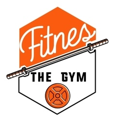 Color vintage fitness emblem vector