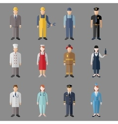 Different people professions characters set vector image