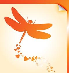 Dragongly decal orange vector