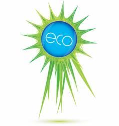 eco ribbon vector image