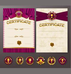 Elegant template of certificate diploma vector