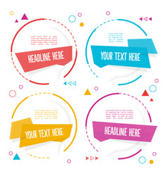 element set of circle banner image vector image vector image