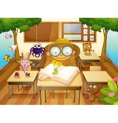 Jungle classroom vector