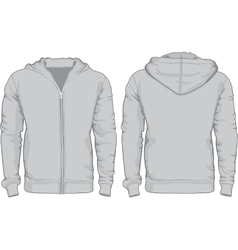 Mens hoodie shirts template front and back views vector