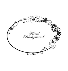 Oval simple ornamental frame vector image vector image