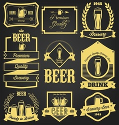 Premium beer label design vector