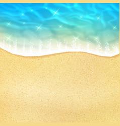 Sea beach or ocean shore sand and waves vector