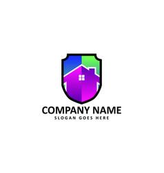 shield house logo vector image