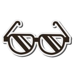 Single glasses icon vector