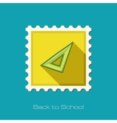 Triangle Ruler flat icon vector image