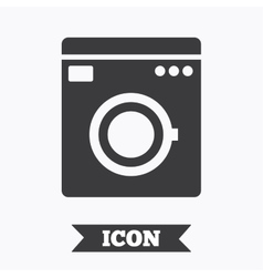 Washing machine icon home appliances symbol vector