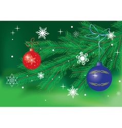 Green card with christmas decor vector