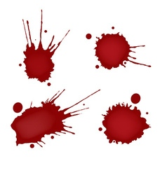 Realistic blood splatters set vector