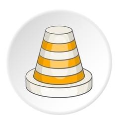 Traffic cone icon cartoon style vector image