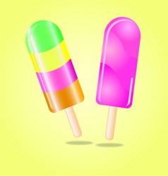 Multi flavour ice cream vector image