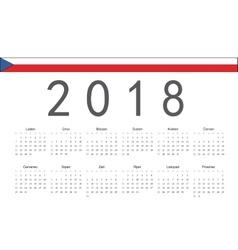 Czech 2018 year calendar vector