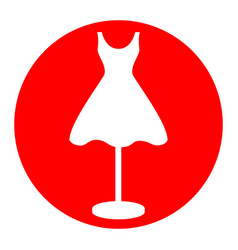 mannequin with dress sign  white icon in vector image