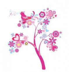 tree of flowers vector image