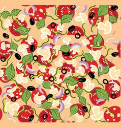 Cartoon tasty pizza vector