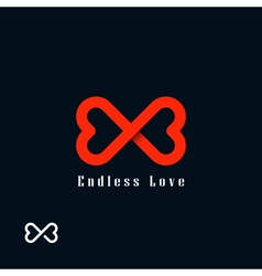 Endless love symbol vector image