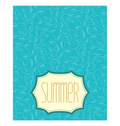 Summer floral pattern with frame vector