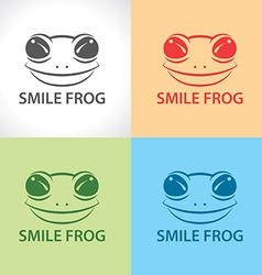 Smile frog symbol icon vector image