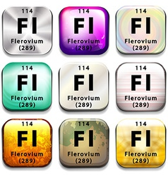 A periodic table showing flerovium vector