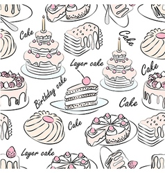 Cake seamless vector