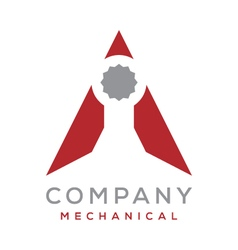 Wrench triangle logo vector