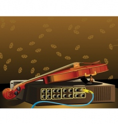 Violin and amplifier vector