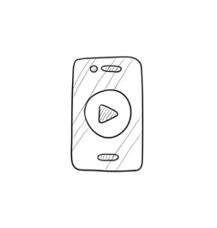 Smartphone sketch icon vector