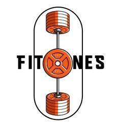 Color vintage fitness emblem vector image