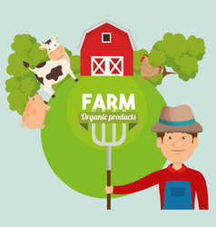 Agriculture and farming icon vector
