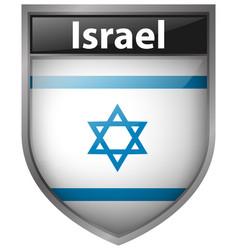 Badge design for israel flag vector