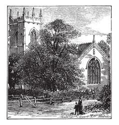 Battlefield church shrewsbury vintage vector