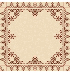 beige floral background with victorian ornament vector image