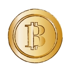 bitcoin golden icon digital money symbol vector image vector image
