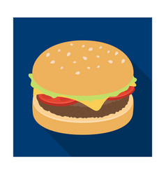 burger with cutlet and slabom bar food with beer vector image vector image