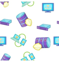 Computer pattern cartoon style vector