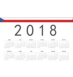 Czech 2018 year calendar vector