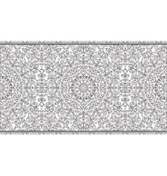 Ethnic seamless pattern borderSwirlsornate strip vector image vector image