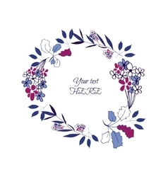 Floral leaf wreath vector