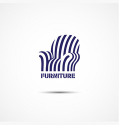 furniture logo vector image vector image
