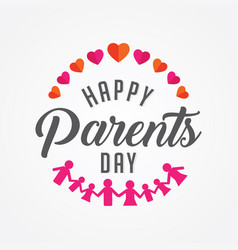 Happy parents day vector