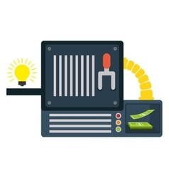 ideas machine icon vector image vector image