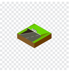Isolated underground isometric subway vector