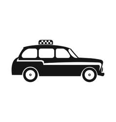London black cab icon simple style vector image vector image