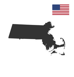 Map of the us state massachusett vector